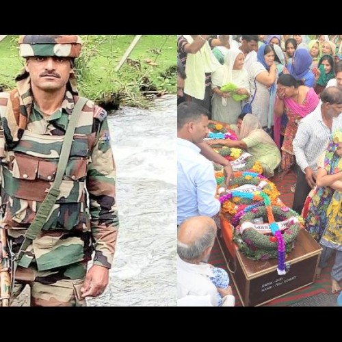 martyr rajkumar cremated with full military honours at khanna