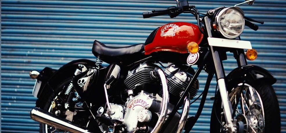 1000cc Carberry Double Barrel Motorcycle with two Royal Enfield Engine launched in india
