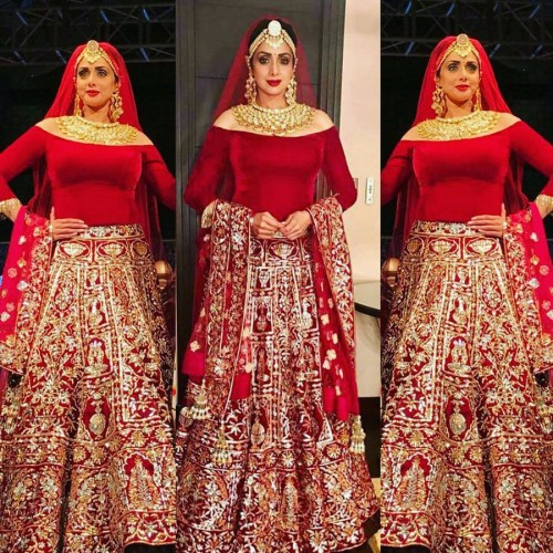 Sridevi 54 year old Bollywood DIVA looks breathtakingly beautiful in a bridal wear