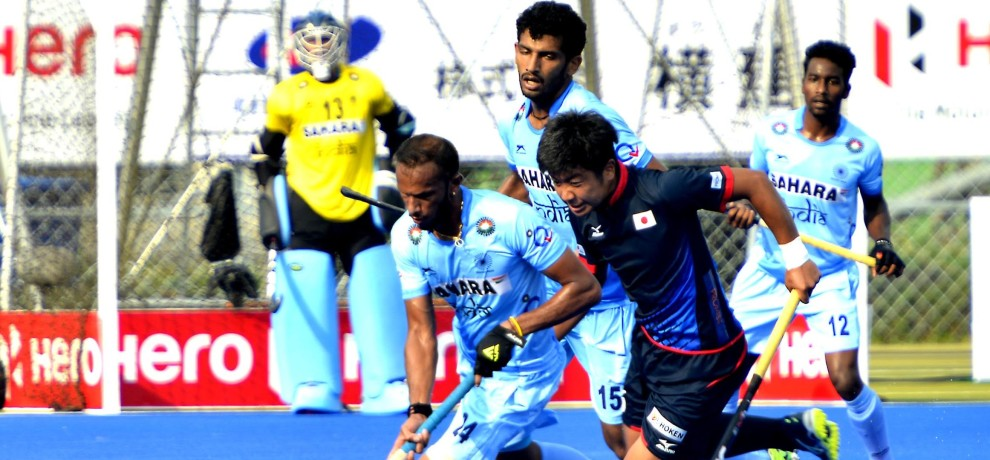 hockey asia cup: India beat japan by 5-1 in his first leage match