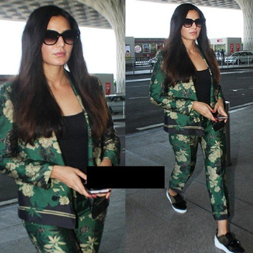 katrina kaif was seen at london airport in new look lets check out