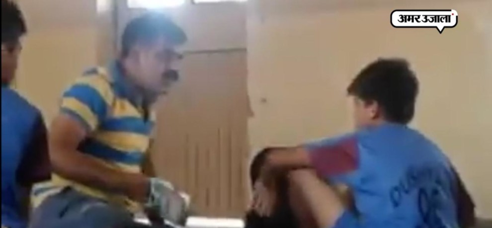 video goes viral of kho kho players beaten up by their coach with shoes