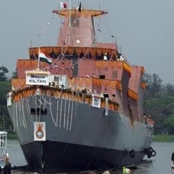 know about INS kiltan who is commssioned by niramla sitaraman in navy at vishakhapatnam port