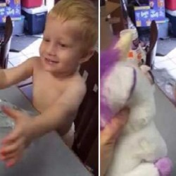 viral video of mum pranks son with scary toy