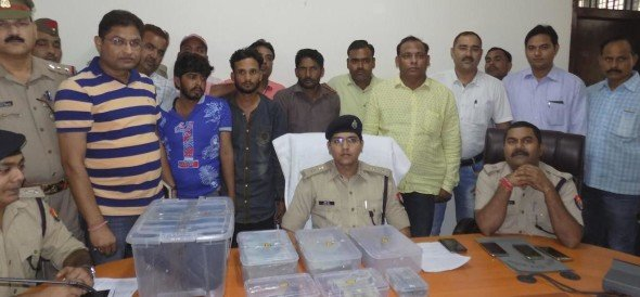 Three rookie arrested, 6.26 lakh recovered