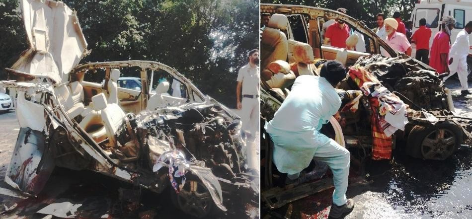 mansa truck innova collission, 7 people killed