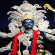 AMID DOWNPOUR DEVOTEES THRONG TO KALI TEMPLE TO OFFER PRAYERS ON DIWALI IN KOLKATA
