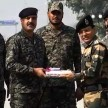 BSF PAKISTANI RANGERS EXCHANGE SWEETS ON DIWALI FESTIVAL IN ATTARI-WAGAH BORDER AMRITSAR