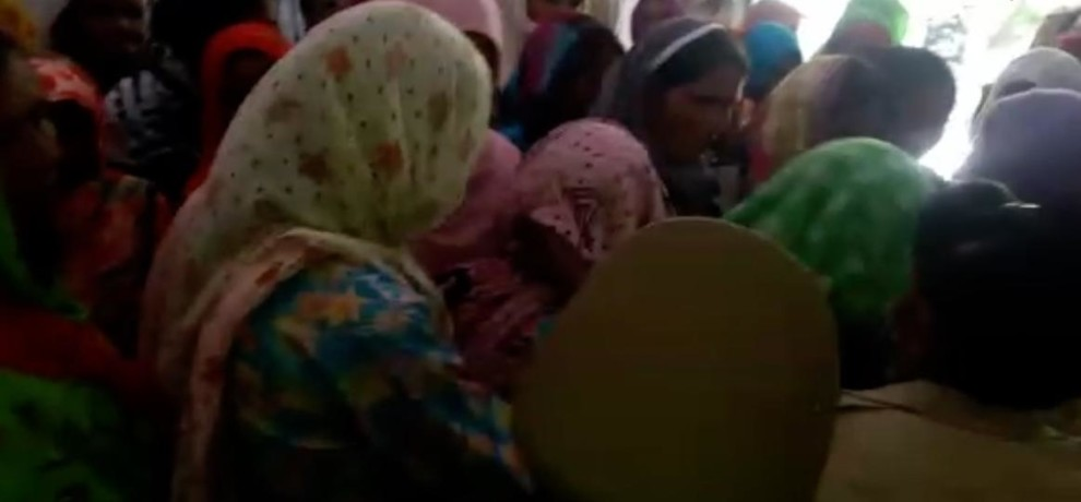 Women protest and ruckus in Saharanpur dm office