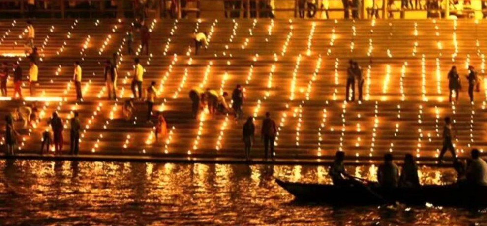 Watch: Thousands of earthen lamps lit at 'Ganga ghats' on Diwali eve