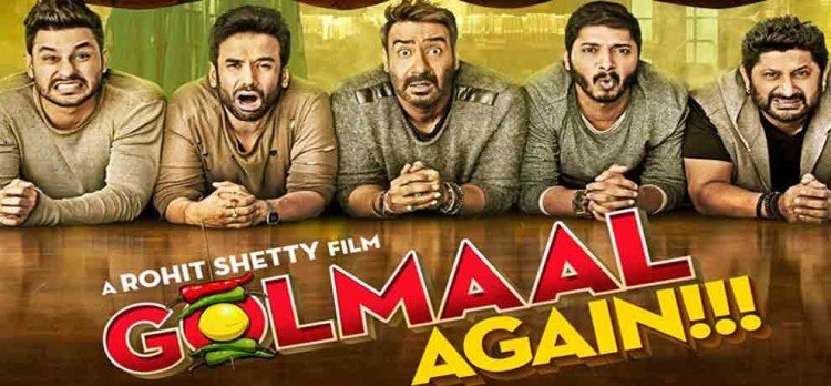 MOVIE REVIEW OF GOLMAAL AGAIN A MUST WATCH FILM