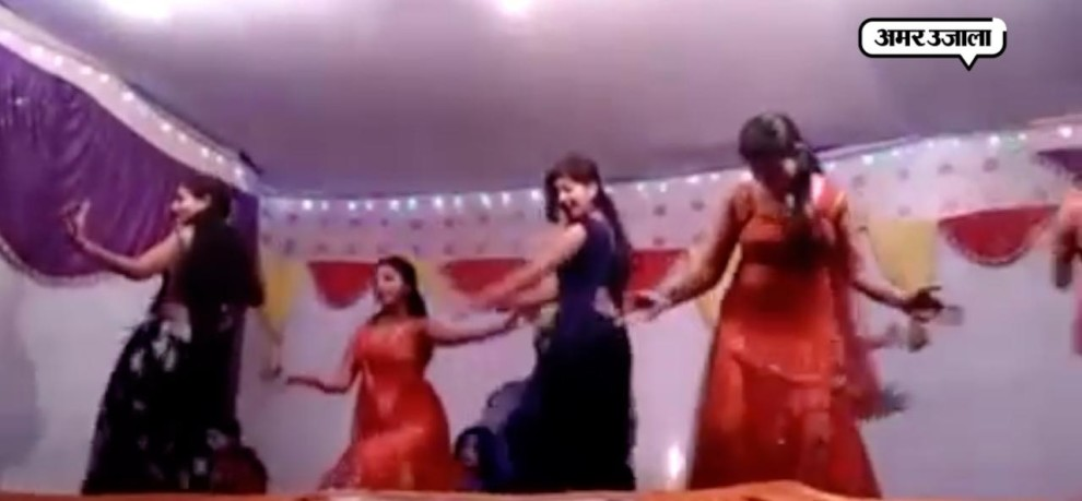VIRAL VIDEO SHAHJAHANPUR BAR GIRL DANCE ON OCCASION OF DIWALI IN PRESENCE OF POLICE