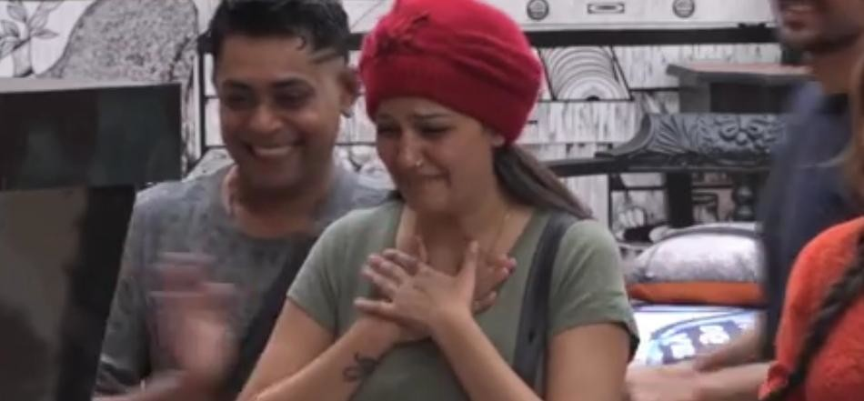 sapna chaudhary weeps a lot on diwali in bigg boss house