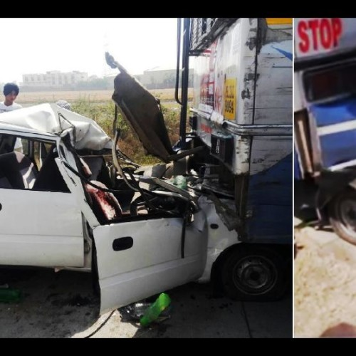 Three killed in a collision of car and motorcycle at Patiala Sangrur highway