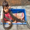 Prakash Amte open small Animal sanctuary in its house where children lives with dangerous animals