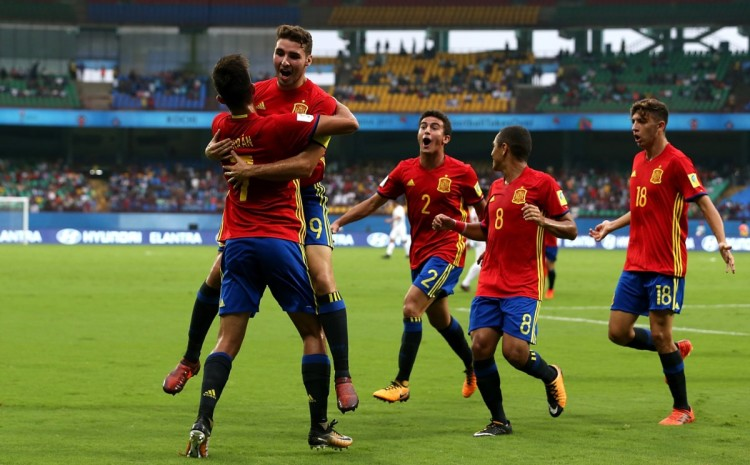 Spain eased their way into the semi-finals of the FIFA U-17 World Cup