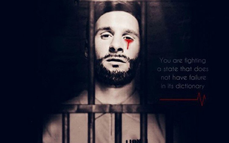 2018 FIFA World Cup: Lionel Messi crying tears of blood in poster  released ISIS