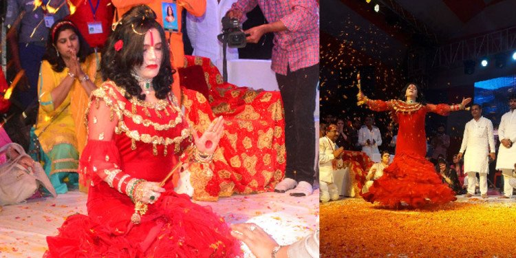 kalki mahotsava sambhal radhey maa dance on devotional songs