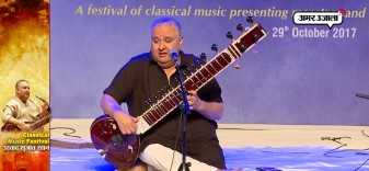 ustad Shujaat Khan performance in classical music festival delhi