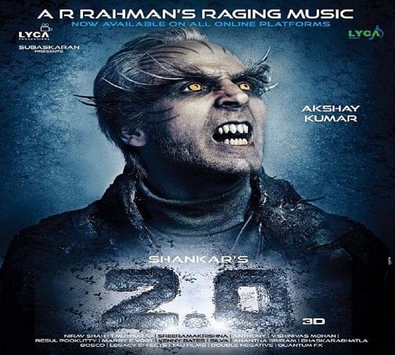 Akshay Kumar And Rajinikanth Starrer Film 2.0 New Poster