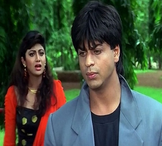 Shahrukh Khan started his film career with negative roll in film baazigar