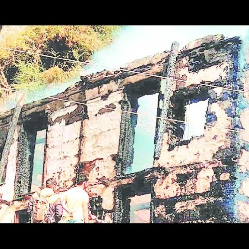 house on fire in kullu 20 sheep died