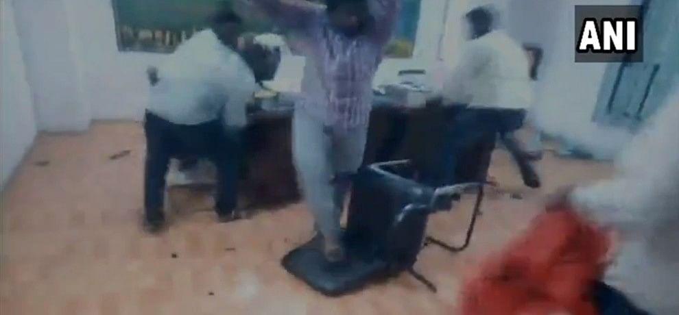 Hyderabad ABVP workers vandalised Narayana College DGM harass women
