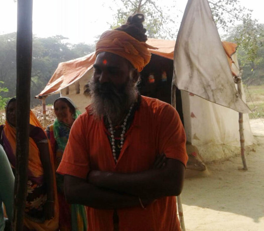 Caught the sadhu with two young women
