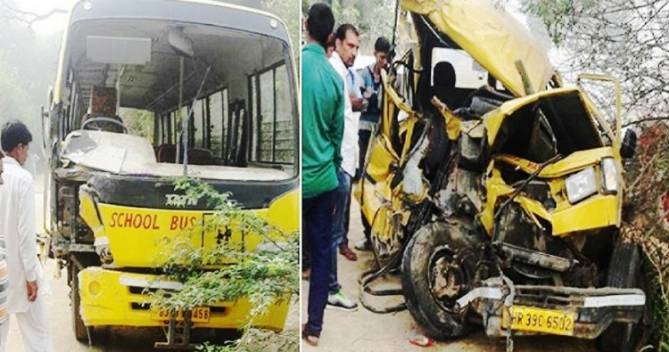 4 killed as school van collides with school bus in Hisar district