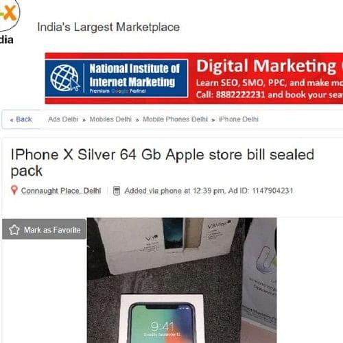 Iphone X Olx Delhi