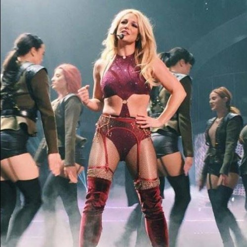 Britney Spears suffers a nip slip while performing in Las Vegas