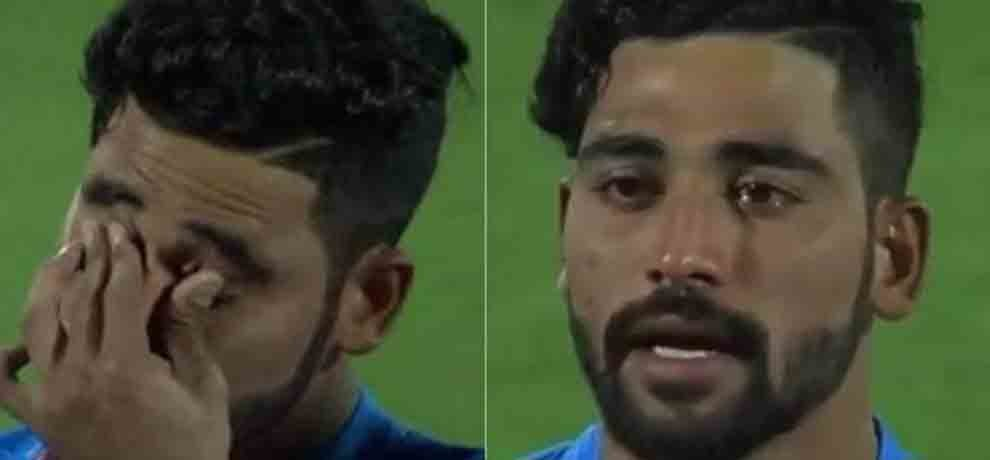 Mohammed Siraj has tears in his eyes before second T20