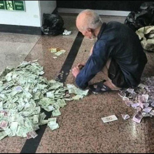 A Beggar from china earn 1 lakh per month