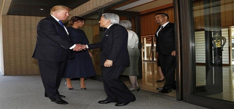 Japan gives grand welcome to donald trump