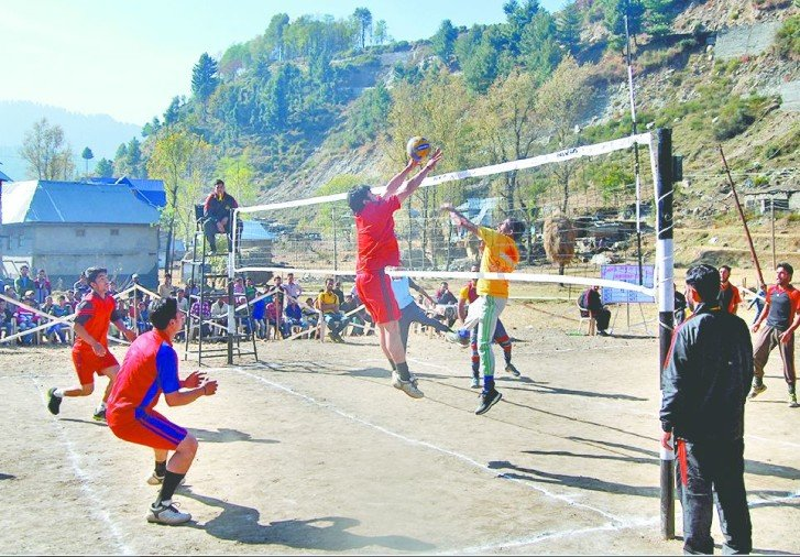 volleyball tournament in front of Pak checkpoints on LoC