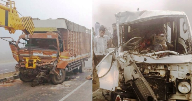 five killed in different road accident in haryana