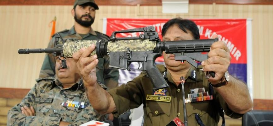 SEE THE PICS OF RECOVER GUN M4 CARBINE TO THE TERRORIST IN PULWAMA