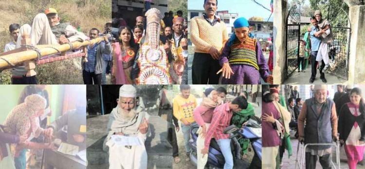 himachal assembly election 2017 senior citizens cast their vote