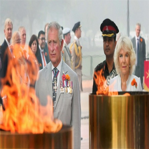 Prince Charles paid tribute to the martyrs at Amar Jawan Jyoti
