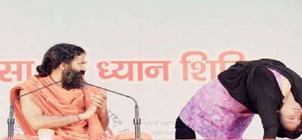Baba Ramdev defends yoga and muslim woman yoga teacher from Ranchi