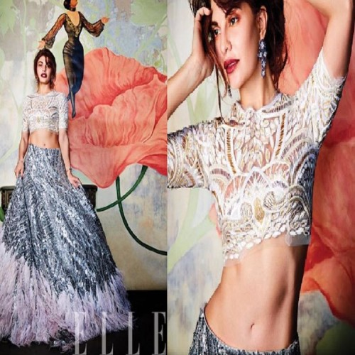 Bollywood actress Jacqueline Fernandez photo shoot for Elle magazine