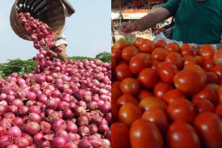 stalls for cheap onion and tomato in lucknow.