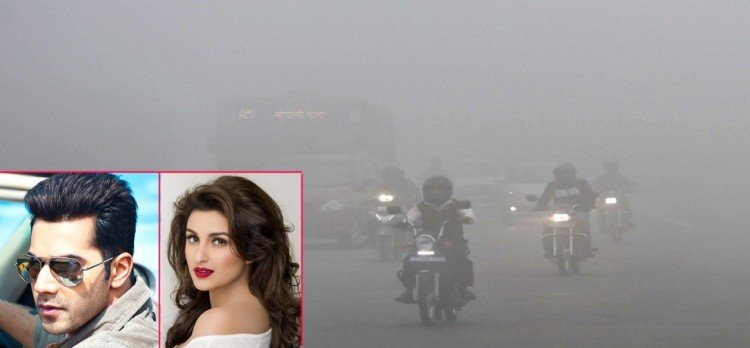 due to smog in delhi bollywood celebs shown their concern for people in delhi