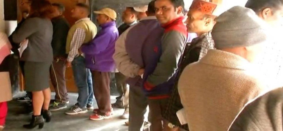 MORE THAN 74 PERCENT VOTES POLLED IN HIMACHAL PRADESH