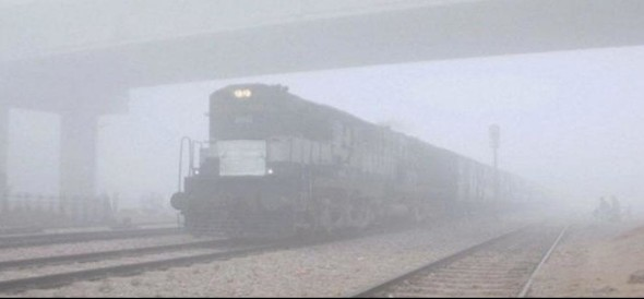 Malwa Express reached to udhampur late for two and a half hours due to fog