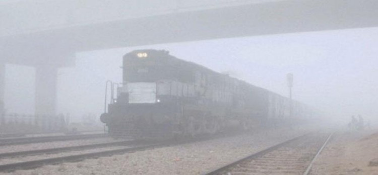 Many trains are running late due to heavy fog