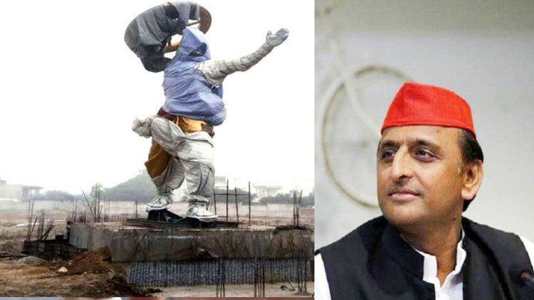 Akhilesh largest statue built Krishna, cost-weight John finger teeth will be suppressed under