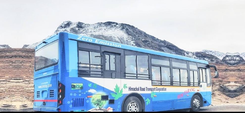 electric bus service started for rohtang pass