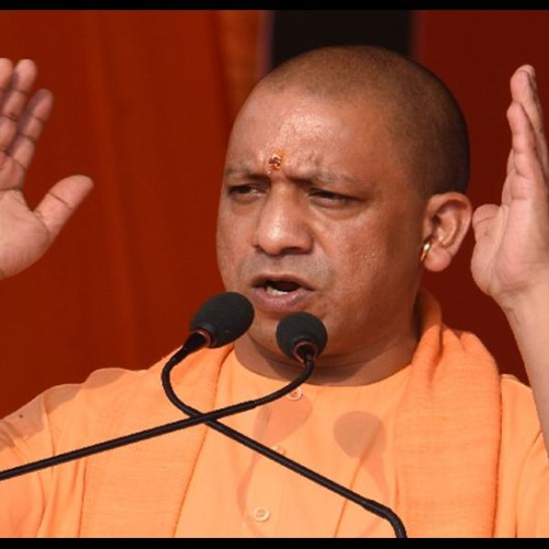 cm yogi spoke against congress party in gujarat election meeting