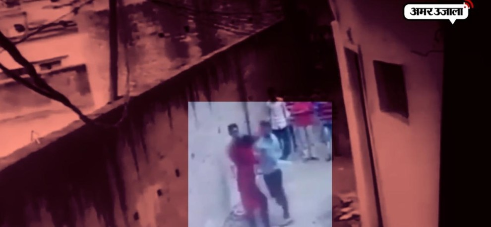 Two alleged molesters were caught on CCTV footage thrashing a woman in Gorakhpu, cm yogi home